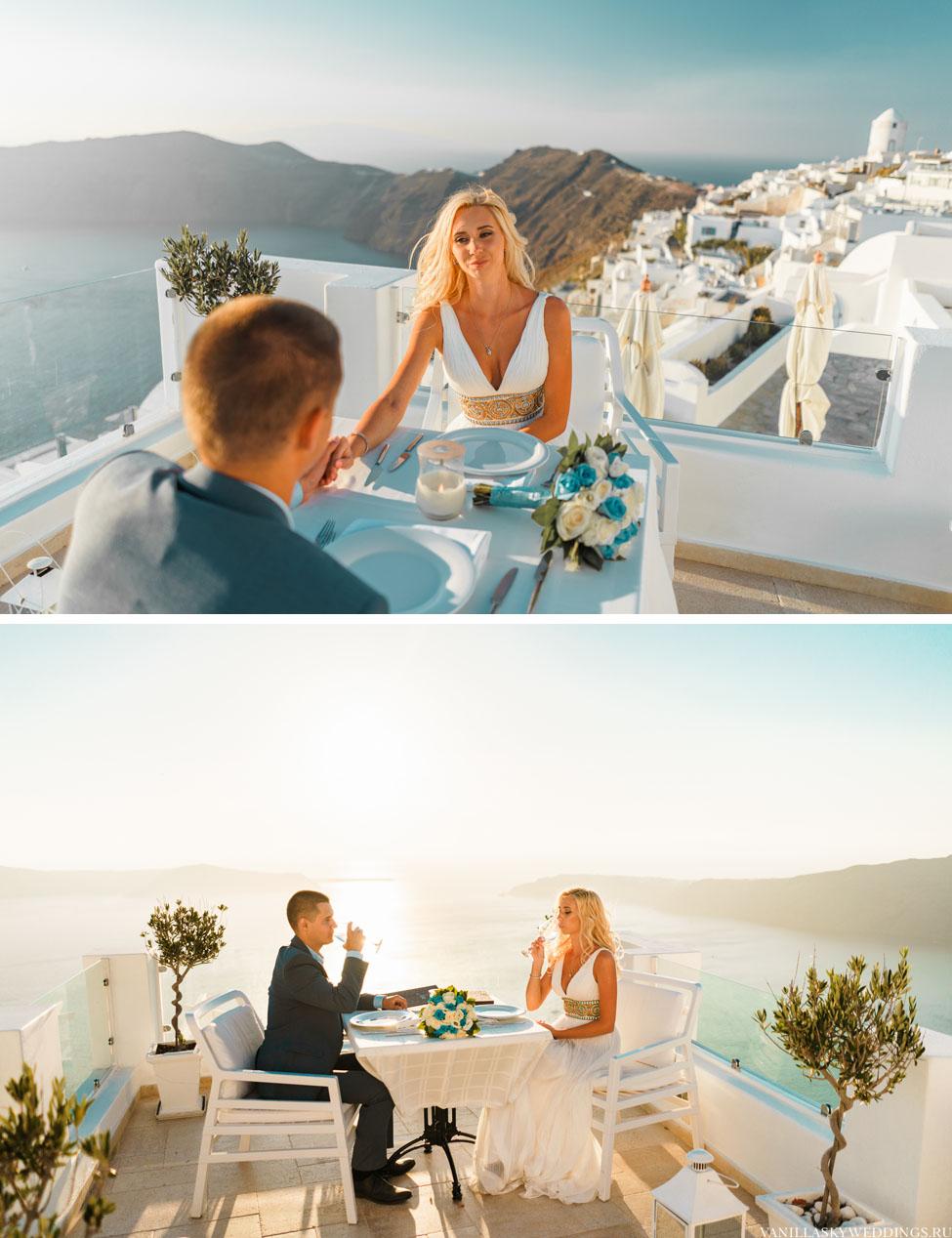 Романтический ужин на закате